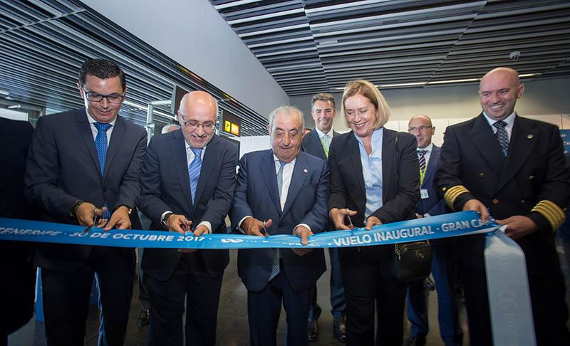 Acto en Las Palmas del vuelo inaugural de Air Europa