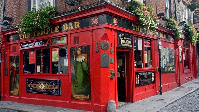 The temples Bar en Dublín